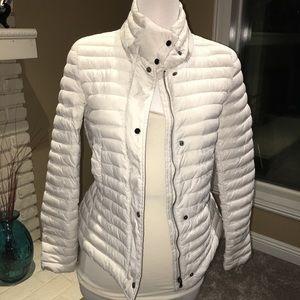 Cream thin  Zara puffer Jacket